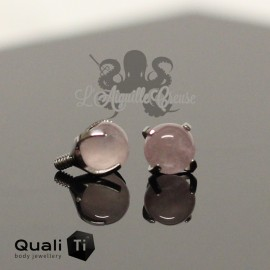 Accessoire QualiTi en titane & Quartz rose de 4 mm , pour 1.6 mm
