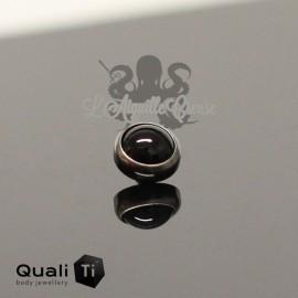 Cabochon d'hématite QualiTi en titane - pour 1.6 mm