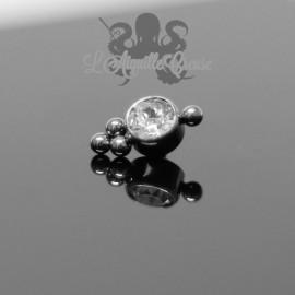 Accessoire en titane orné de Swarovski - pour 1 ou 1.2 mm