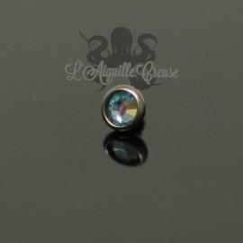 Accessoire pour bijou en 1.6 mm, en titane et cristal Swarovski de 3 mm