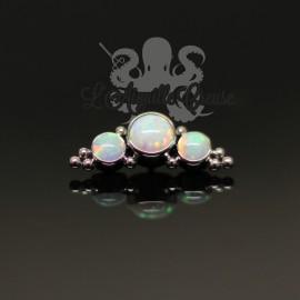 Accessoire en titane et opales synthétiques pour 1 ou 1.2 mm