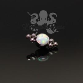 Accessoire en titane et opale synthétique pour 1 ou 1.2 mm