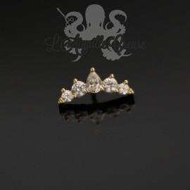 Cluster en Or 18 carats, pour bijou en 1 ou 1.2 mm