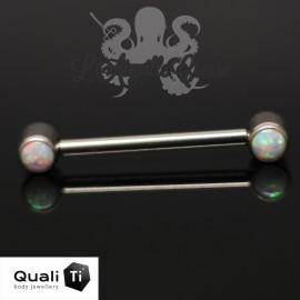 Bijou de téton QualiTi en titane & Opales synthétiques - Threadless