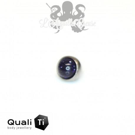 Accessoire QualiTi en titane & goldstone de 3 mm , pour 1.2 mm