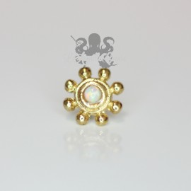 Accessoire opale synthétique et bronze pvd or 18 carats Threadless