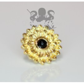 Accessoire Onyx et bronze pvd or 18 carats Threadless (GE 515 O)