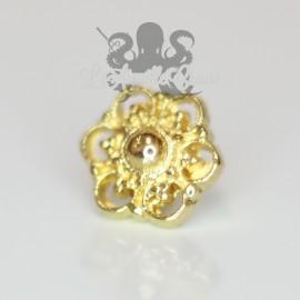 Accessoire Fleur en bronze pvd or 18 carats Threadless
