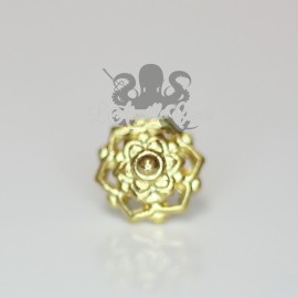 Mini Fleur en bronze pvd or 18 carats Threadless