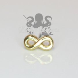 Infini en bronze pvd or 18 carats Threadless