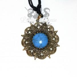 Collier en bronze & Turquoise