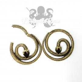 Paire de poids Serpent en bronze