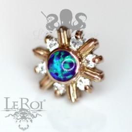 Accessoire Flocon en or rose 14 carats Threadless LeRoi