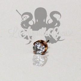 Accessoire en or rose 18 carats orné d'un cristal Swarovski Threadless
