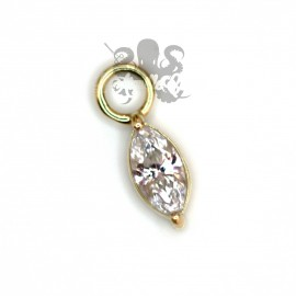 Charm Marquise en or jaune 18 carats