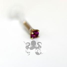 Rubis griffé d'or jaune 18 carats
