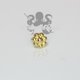 Mini Fleur en bronze pvd or 18 carats Threadless