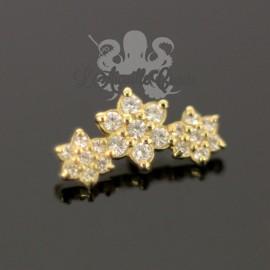Fleurs en Or 18 carats, pour bijou en 1 ou 1.2 mm