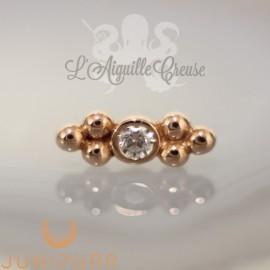 Accessoire Zircon et or rose 14 carats Threadless Junipurr