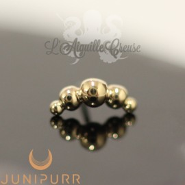 Croissant en or jaune 14 carats Threadless Junipurr