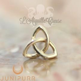 Gold Celtic Knot en or jaune 14 carats Threadless Junipurr