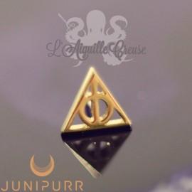 Deathly Hallows en or jaune 14 carats Threadless Junipurr