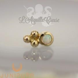Accessoire Opale synthétique et or jaune 14 carats Threadless Junipurr