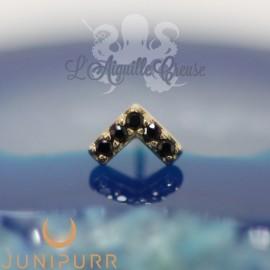 Accessoire Chevron et or jaune 14 carats Threadless Junipurr