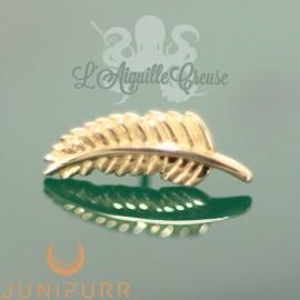 Plume en or jaune 14 carats Threadless Junipurr