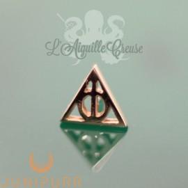 Deathly Hallows en or rose 14 carats Threadless Junipurr