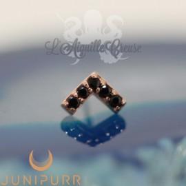 Accessoire Chevron et or rose 14 carats Threadless Junipurr