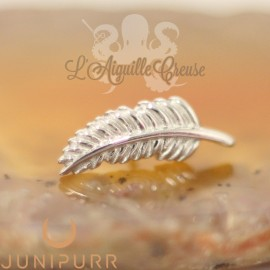 Plume en or blanc 14 carats Threadless Junipurr
