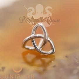 Gold Celtic Knot en or blanc 14 carats Threadless Junipurr