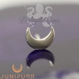 Lune en or blanc 14 carats Threadless Junipurr