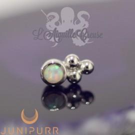 Accessoire Opale synthétique et or blanc 14 carats Threadless Junipurr
