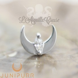 Guardian Mercury en or blanc 14 carats Threadless Junipurr