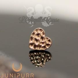 Coeur martelé en or rose 14 carats Threadless Junipurr