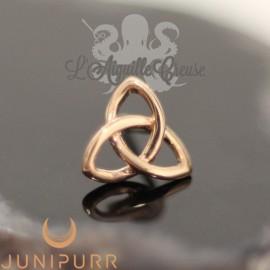 Gold Celtic Knot en or rose 14 carats Threadless Junipurr