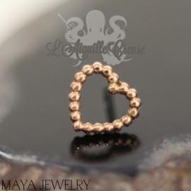 Tiny Love en or rose 14 carats Threadless - Maya