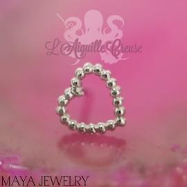Tiny Love en or blanc 14 carats Threadless - Maya