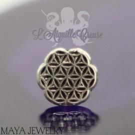 Forty3 en or blanc 14 carats Threadless - Maya