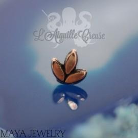 Pousse en or blanc 14 carats Threadless - Maya