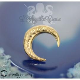 Croissant de lune en or 14 carats Threadless - Quetzalli