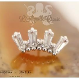Accessoire zircons et or blanc 14 carats - Buddha