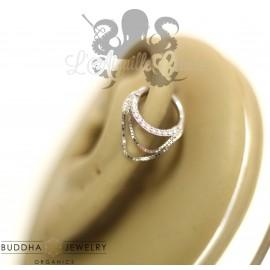 Anneau en or blanc 14 carats Buddha