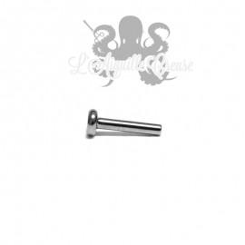 Barre de labret titane 1.2 mm pas de vis interne