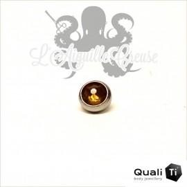 Accessoire QualiTi en zircon topaz et titane - pour 1.6 mm