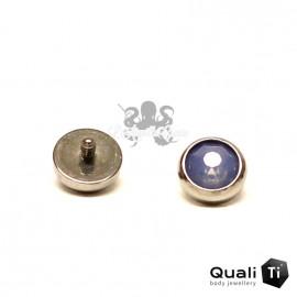 Accessoire QualiTi en zircon bleu 'air' et titane - pour 1.6 mm