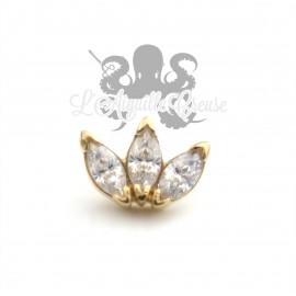 Marquise de zircons Swarovski en Or 18 carats, pour bijou en 1 ou 1.2 mm