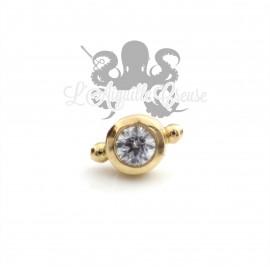Accessoire en or jaune 18 carats orné d'un cristal Swarovski Threadless